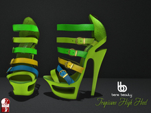 Bens Beauty - Tropicano High Heel lime-mix