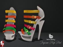 Bens Beauty - Tropicano High Heel white-mix
