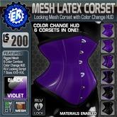 ER Mesh Latex Corset - Violet