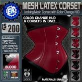 ER Mesh Latex Corset - Blood