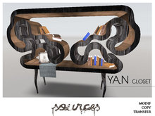 """YAN"" BookShelf BLACKWOOD by ""Sources""  PG - MESH - BOX - Copy"