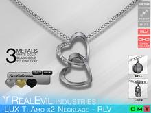 **RE** LUX Ti Amo x2 Necklace RLV BOX