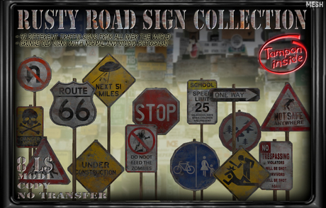 [Tampon Inside] Rusty Road Sign Collection