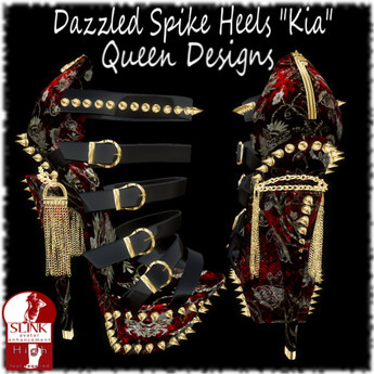 "Dazzled Spike Heels ""Kia"""