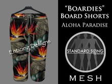 *ED Mens Mesh Boardies Aloha Board Shorts Paradise