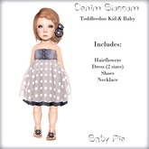 *Baby Pie* Denim Blossom Girl's Toddleedoo Complete Outfit - Kid & Baby
