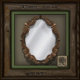 Vintage Ornate Oval Mirror Lt Wood