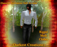 {Damon S. Rigged Mesh Full Outfit} (includes skin/shape/hair)