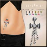 F I N E S M I T H Bow Belly ring color set