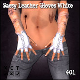 [Sassy Kitty Designs] Leather Gloves White