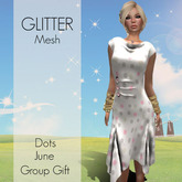 *GLITTER* DOTS MESH DRESS JUNE GROUP GIFT
