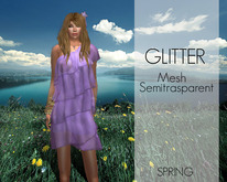 *GLITTER* SPRING MESH DRESS MAY GROUP GIFT