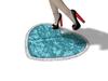 Heart Shape Bathroom Mat (teal)