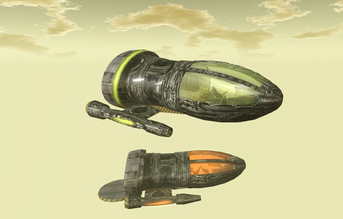 "12-18 LI ""Obscure's Cargo Shuttle"" non mesh, non sculpt flying spaceship (copy)"