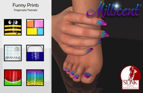 .:*Millicent*:. Funny Prints Fingernails/Toenails