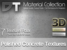 7 Polished Concrete Textures - Full Perm - DT Material Collection