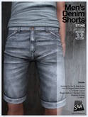 *Shai* Men's Denim Shorts - Stone