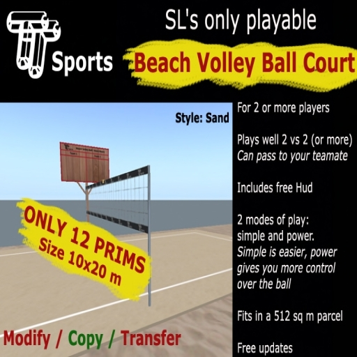 TT Sports Beach Volleyball - sand court