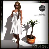 :KR: Tafeta Party Dress - White