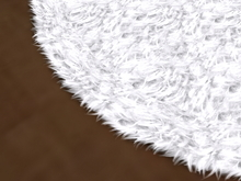 [Px] Fur Rug (circle) -tintable white-