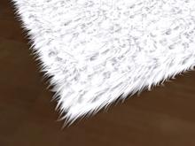 [Px] Fur Rug (square) -tintable white-