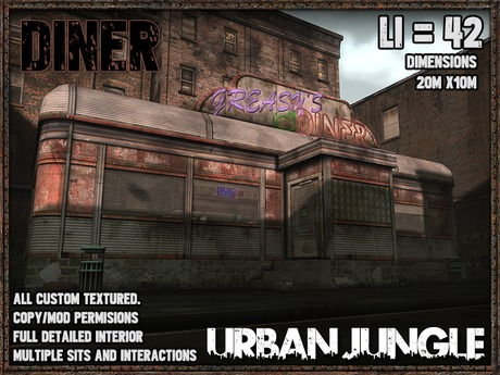 DINER - FULLY FURNISHED - MESH - URBAN JUNGLE