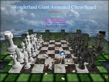 Boudoir -Wonderland Giant Animated Chess Board