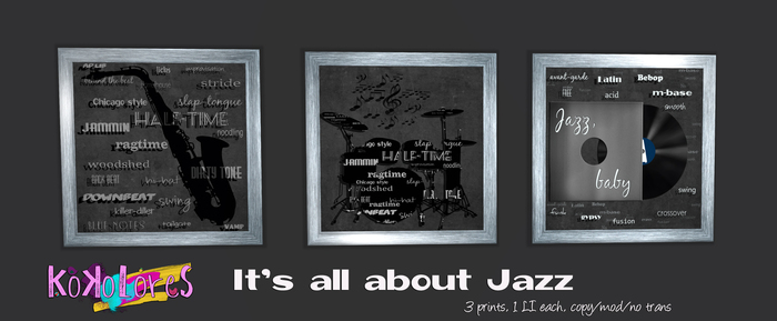 [Kokolores] It's all about Jazz - 3 Prints