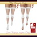 Banded fishnet socks inworld listing   white physique only