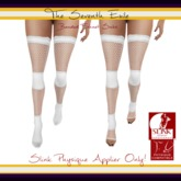 The Seventh Exile: Banded Fishnet Socks: White Physique Applier ONLY!