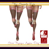 The Seventh Exile: Banded Fishnet Socks: Rose Breeze Physique Applier ONLY!