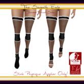 The Seventh Exile: Banded Fishnet Socks: Black v2 Physique Applier ONLY!