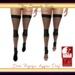 Banded fishnet socks inworld listing   black physique only
