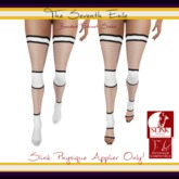 The Seventh Exile: Banded Fishnet Socks: White v2 Physique Applier ONLY!