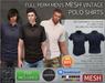 -TD- TEMPLATES - MESH Mens Vintage Polo Shirts *FULL PERMS*