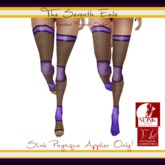 The Seventh Exile: Banded Fishnet Socks: Purple Rings Physique Applier ONLY!