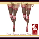 The Seventh Exile: Banded Fishnet Socks: Pink Break Physique Applier ONLY!