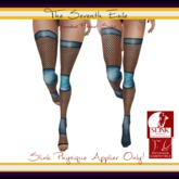 The Seventh Exile: Banded Fishnet Socks: Blue Ocean Physique Applier ONLY!