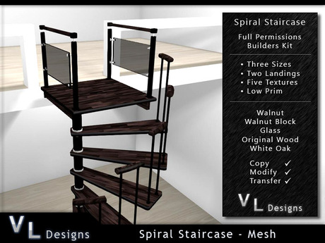 Mesh Spiral Staircase - Builders Edition Full Perm Stair Set