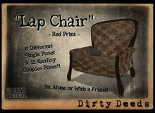 ~Dirty Deeds~ Lap Chair - Red Print