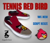 - Tennis Shoes Mesh - Red Bird - Zeppelin Store