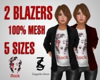 - Marilyn Rock - Ladies Blazer with T-shirt - Zeppelin Store -