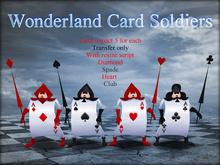 Boudoir-Wonderland Card Soldiers