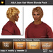 ** July Sale ** A&A Jean Hair Warm Blonde Pack (4 Colors Pack). Modern conservative short wavy men's hairstyle.