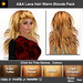 ** July Sale ** A&A Lana Hair Warm Blonde Pack (4 Colors Pack). Long wavy 70s hairstyle