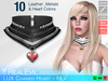 **RE** LUX Chained Heart Collar RLV * MESH * (**LUX** Collection)