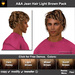 ** July Sale ** A&A Jean Hair Light Brown Pack (4 Colors Pack). Modern conservative short wavy men's hairstyle.